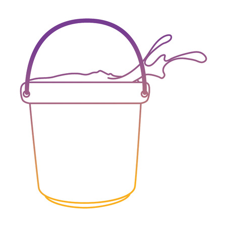 Color powder in bucket plastic holy celebration vector illustration design. Illustration