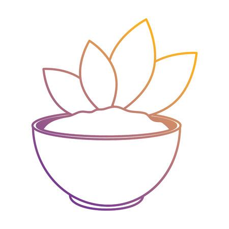 leafs plant in ceramic pot vector illustration design Иллюстрация