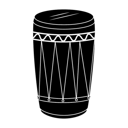 tropical drum ethnicity icon vector illustration design  イラスト・ベクター素材