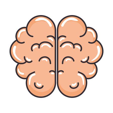 脳人間の臓器アイコンベクトルイラストデザイン