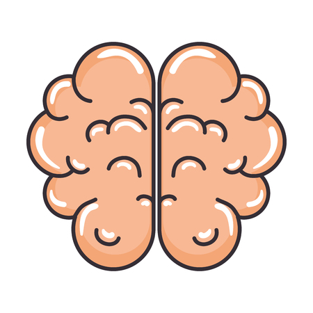 brain human organ icon vector illustration design Ilustrace