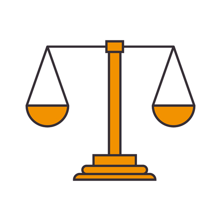 weight scale justice icon vector illustration design