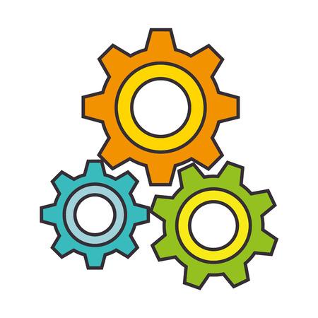 gears machine isolated icon vector illustration design Foto de archivo - 98406509