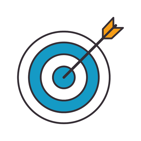 target arrow isolated icon vector illustration design Stock Vector - 98406510