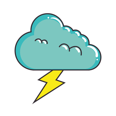 雷ベクトルイラストデザインの気候雲