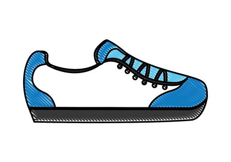 cartoon sneaker sport fashion image vector illustration drawing color