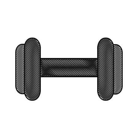 sport gym barbell weight equipment image vector illustration drawing color