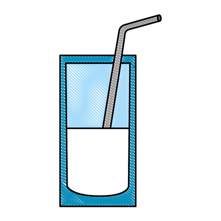 milk glass nutrition beverage image vector illustration drawing color 向量圖像