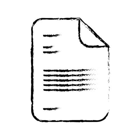 office document paper report image vector illustration sketch design Foto de archivo - 98470806