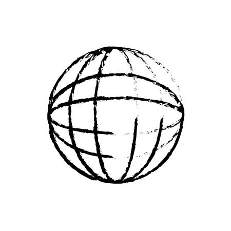 planet world connection network image vector illustration sketch design