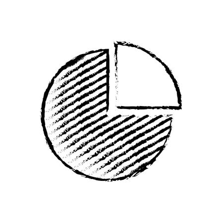 statistic pie chart diagram business image vector illustration sketch design Illustration