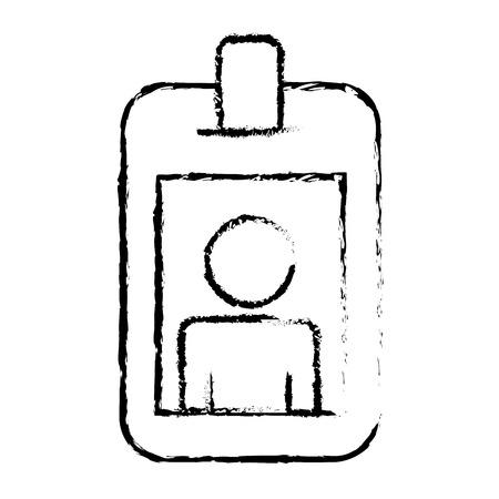 id corporate identity photo holder vector illustration sketch design Illustration