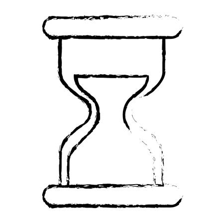 hourglass time business countdown image vector illustration sketch design Ilustrace