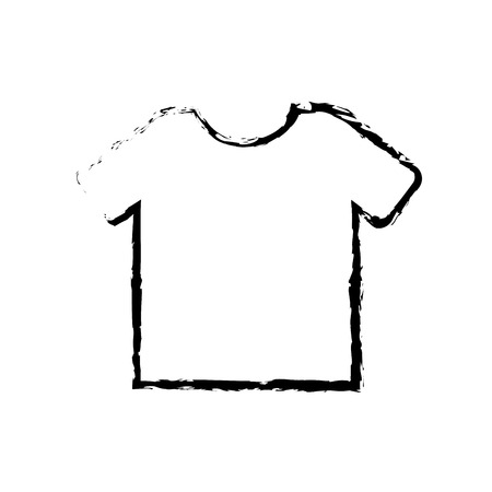 commerce shirt clothes fashion merchandise vector illustration sketch design Ilustração
