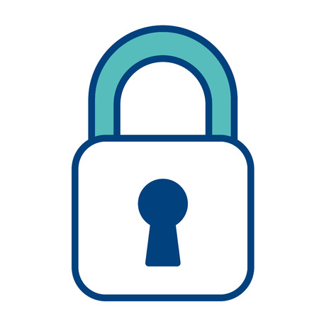 security padlock business technology protection image vector illustration green and blue