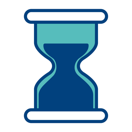 hourglass time business countdown image vector illustration green and blue