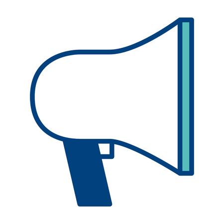 marketing advertising business loudspeaker image vector illustration green and blue Illustration