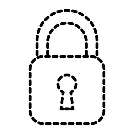 Security padlock business technology protection image vector illustration dotted line Ilustração