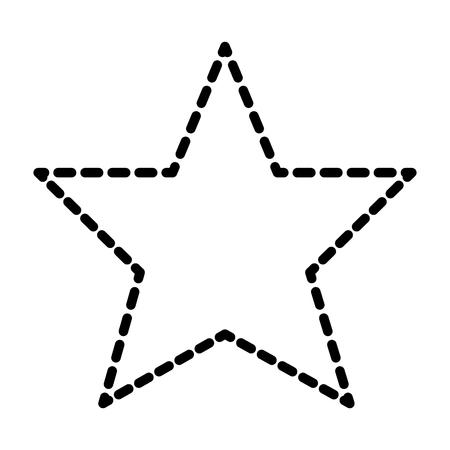 Star winner prize award business image vector illustration dotted line.