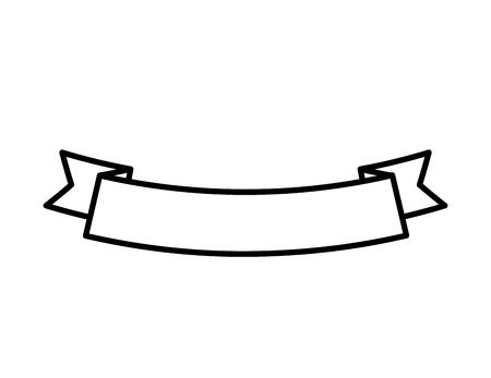 ribbon banner ornament decoration empty vector illustration outline Vettoriali