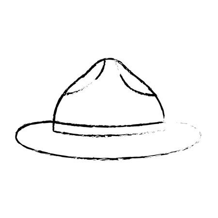 hat for men accessory old fashion vector illustration sketch