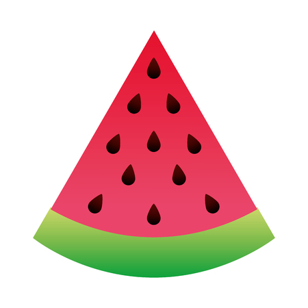 watermelon delicious juice sliced image vector illustration