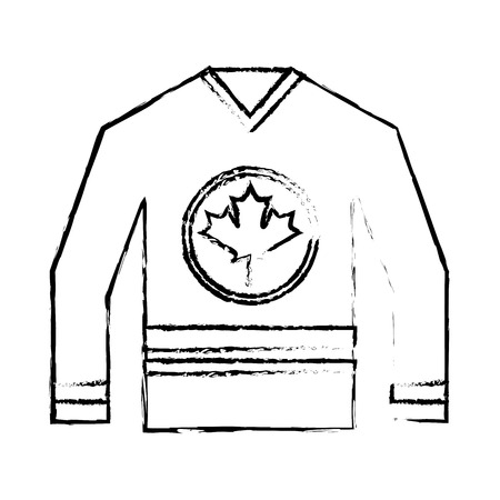 canadian jersey hockey sport national vector illustration sketch Illustration