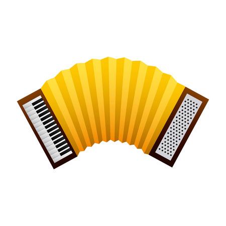 Instrument de musique accordéon image traditionnelle illustration vectorielle Banque d'images - 98410675