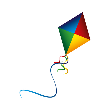 colored kite flying recreation image vector illustration