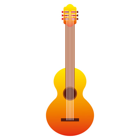classic guitar instrument music image vector illustration Vectores