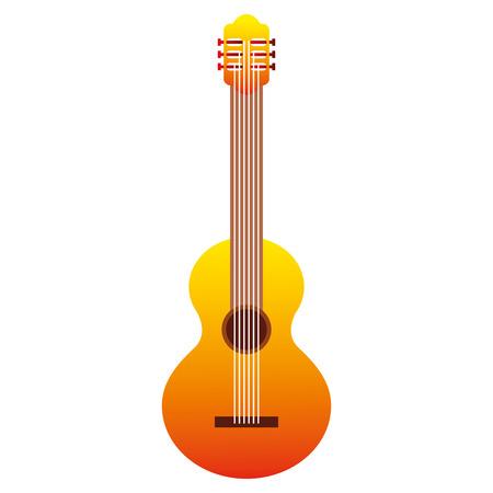 classic guitar instrument music image vector illustration Illustration