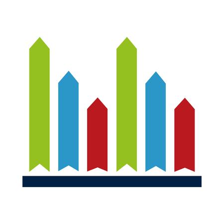 Statistics infographic with bars design.