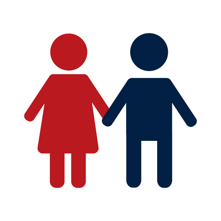 couple genders silhouettes avatars vector illustration design Imagens - 98867464