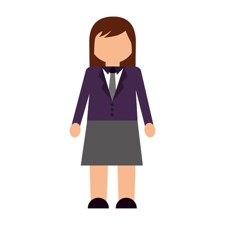An avatar of a woman in business attire.