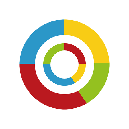 An isolated circular type of statistics graphic icons. Banque d'images - 98860766