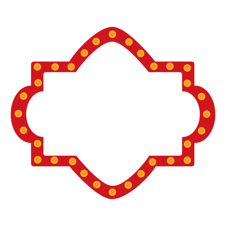 A circus label lights icon design.