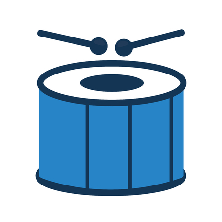 Blue carnival drum instrument icon.