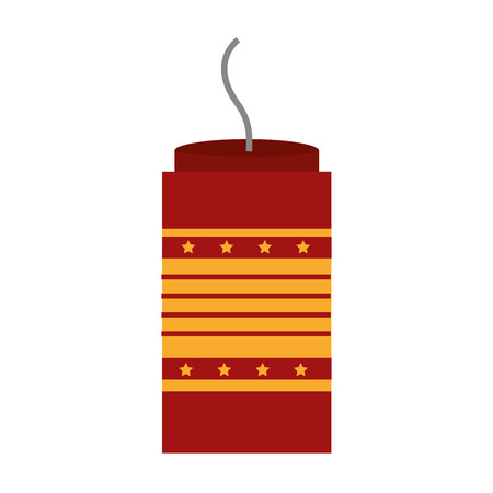 Isolated carnival firework icon design.