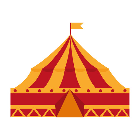 Isolated icon of a circus tent illustration design. 向量圖像