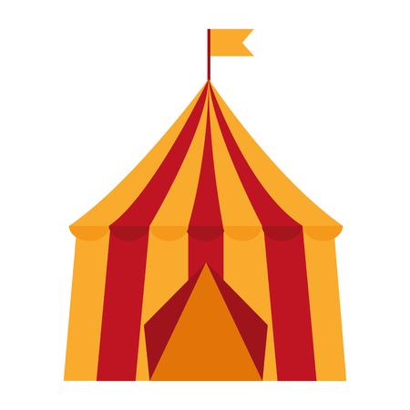 서커스 텐트 일러스트 디자인의 고립 된 아이콘입니다.