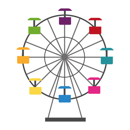 panoramic wheel isolated icon vector illustration design Vectores