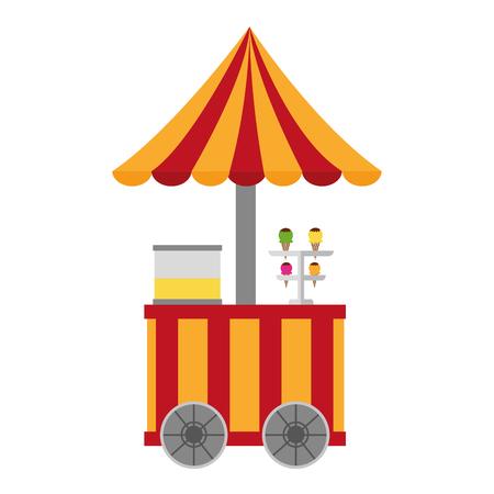 Circus ice cream shop illustration design.
