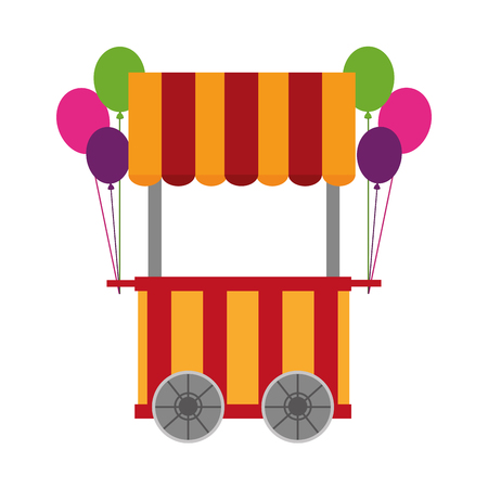 Circus air pumps shop illustration design.
