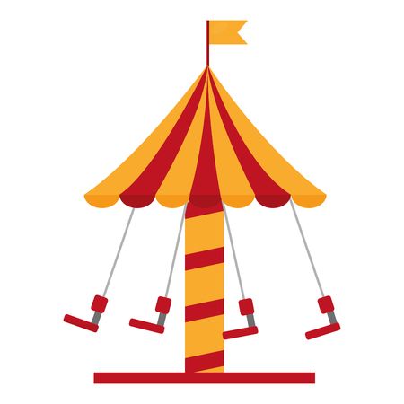 Isolated icon of a carousel carnival illustration design. Illusztráció