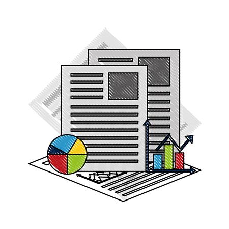 Statistics and infographics set icons vector illustration design
