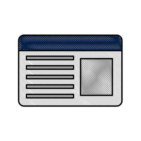 ID card isolated icon vector illustration design