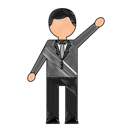 Businessman elegant avatar character vector illustration design