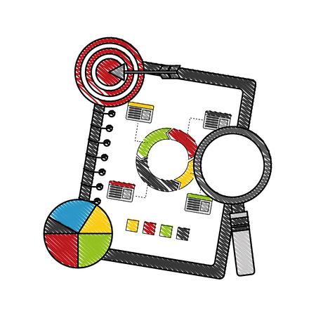 statistics and infographics set icons vector illustration design Иллюстрация
