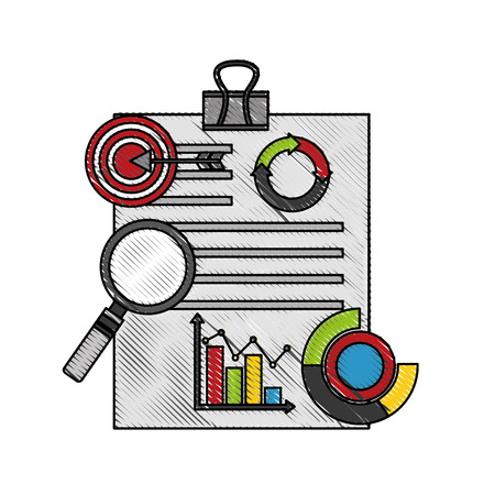 statistics and infographics set icons vector illustration design  イラスト・ベクター素材