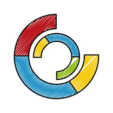 Statistiques graphique circulaire isolé icône du design illustration vectorielle Banque d'images - 98468508